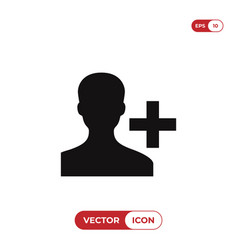 add contacts icon vector image