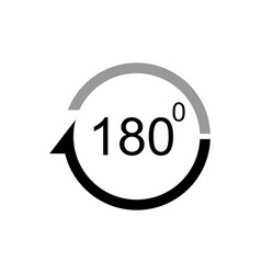 Angle 180 degrees icon vector