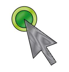 Arrow selection point click icon vector