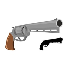 Big Revolver gun silhouette firearms Large handgun vector
