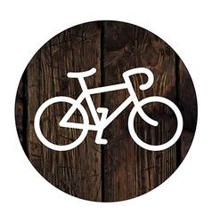 bike on wooden board vector image