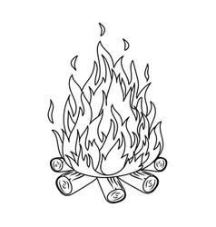 Bonfiretent single icon in outline style vector