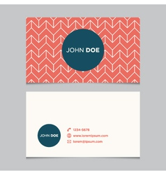 business card pattern red 04 vector image