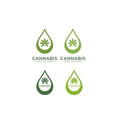 Cbd cannabis marijuana logo design vector