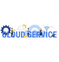 cloud service word concept vector image