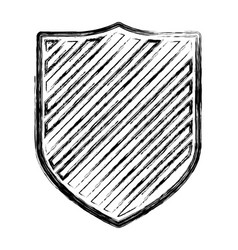 coat of arms monochrome blurred contour and vector image