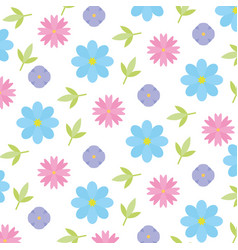 cute background flowers leaves decoration vector image