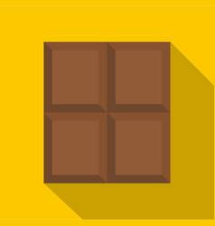 Dark milk chocolate bar icon flat style vector