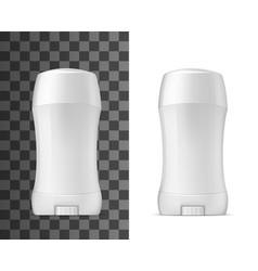 Deodorant antiperspirant white mockup object vector
