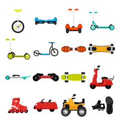different urban parks activity sport transport vector image
