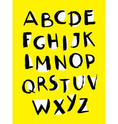 Font painted typography funny vector