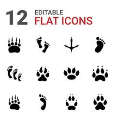 Footprint icons vector