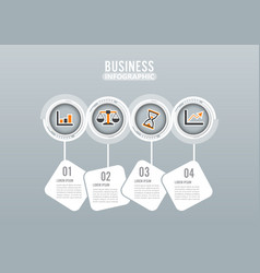 four steps infographics design and marketing vector image