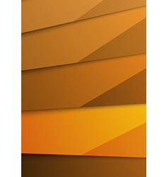 Golden abstract layer folder corporate template vector image