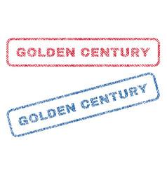 Golden century textile stamps vector