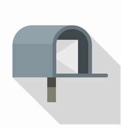 gray mailbox icon flat style vector image