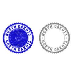grunge north dakota textured stamps vector image