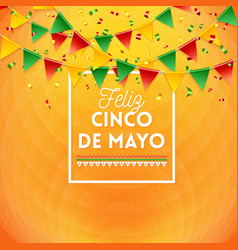happy fifth may mexican card or poster design vector image