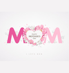 Happy mothers day message mom background vector