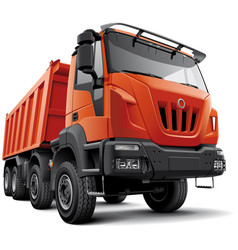 heavy construction truck vector image
