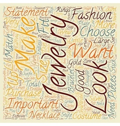 How To Choose Jewelry text background wordcloud vector
