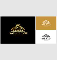 Letter y logo design luxury gold vector