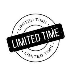 Limited time rubber stamp vector