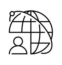 linear monochrome outsourcing icon vector image