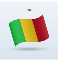 Mali flag waving form vector image
