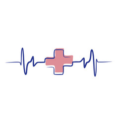 medical pulse vector image
