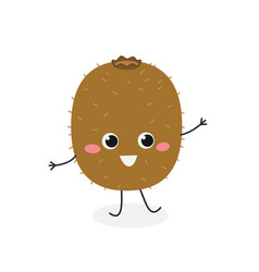 merry cartoon kiwi vector image