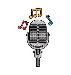microphone note music sound equipment festival vector image