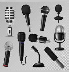 microphone sound music audio voice mic vector image