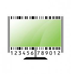 monitor barcode vector image