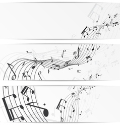 Music notes banners vector image