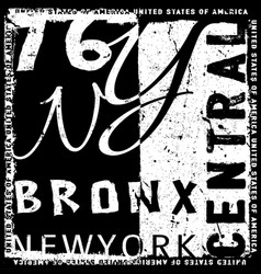 new york graphic typography design vector image