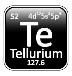 Periodic table element tellurium icon vector image