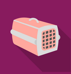 pet case icon in flate style isolated on white vector image