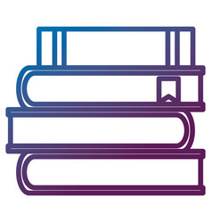 pile text books school icon vector image