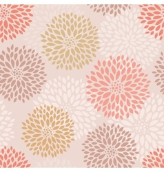 Pink floral seamless pattern vector image