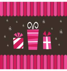 pink gifts vector image