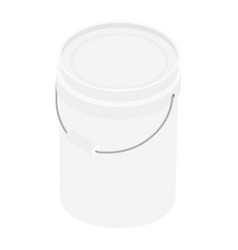 plastic bucket isometric view isolated on white vector image