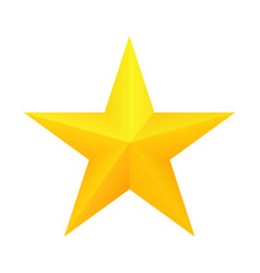 Realistic golden star icon vector