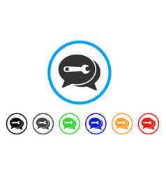 repair chat rounded icon vector image