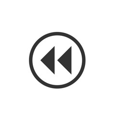 rewind icon flat vector image