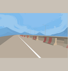 Road and construction scene vector