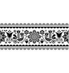 Scandinavian seamless pattern with flowers vector