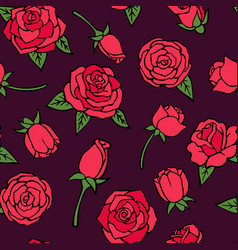 seamless pattern with red vector image