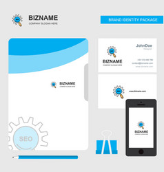 Seo setting business logo file cover visiting vector