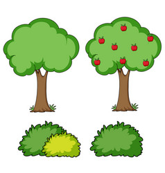 set of simple tree vector image